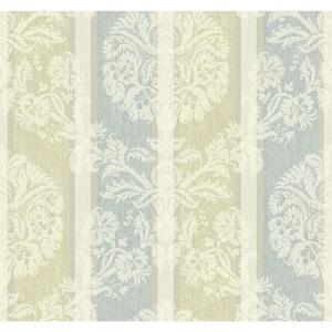 Woven Damask Stripe Wallpaper EB2094