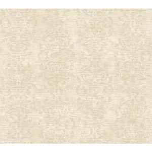 Distressed Damask Stripe Wallpaper GX8119