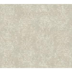 Distressed Damask Stripe Wallpaper GX8120