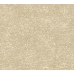 Distressed Damask Stripe Wallpaper GX8121
