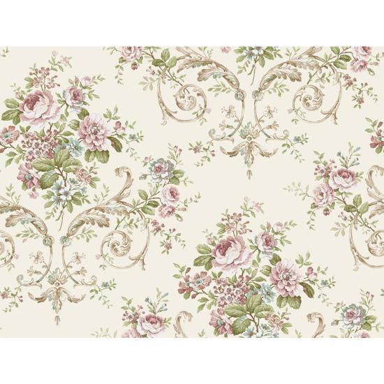 Neoclassic Floral Wallpaper PN0401