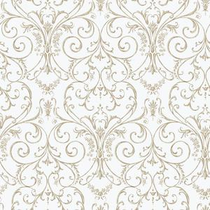 Scroll Damask Wallpaper PN0416