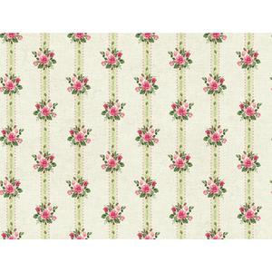 Rose Stripe Wallpaper PN0489