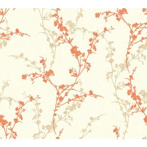 Delicate Floral Branch Wallpaper WB5445