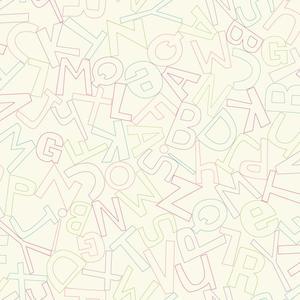 Alphabet Soup Wallpaper WK6961
