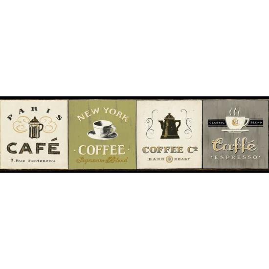 Coffee Signs Border AM8641B