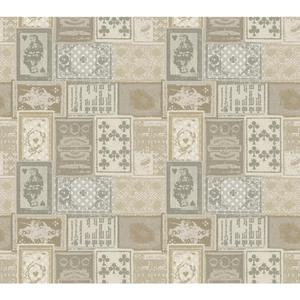 Eclectic Patchwork Wallpaper AM8725