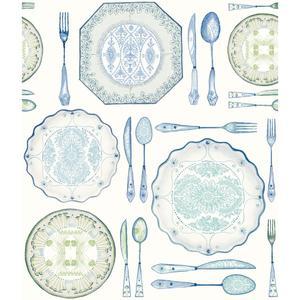 Dinnerware Wallpaper AM8732
