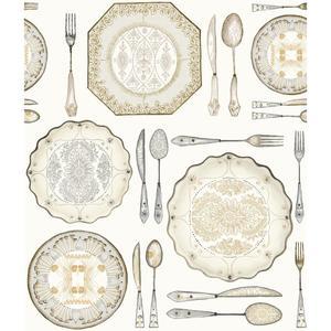 Dinnerware Wallpaper AM8733