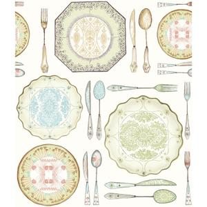 Dinnerware Wallpaper AM8734