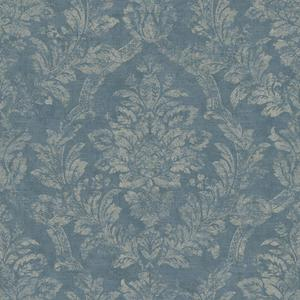 Distressed Damask Wallpaper AM8766