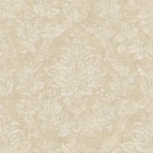 Distressed Damask Wallpaper AM8769