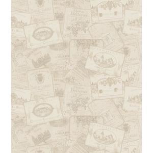 Wine Label Sidewall Wallpaper AM8822
