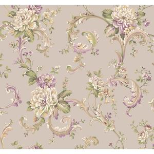Floral Scroll Wallpaper EL3956