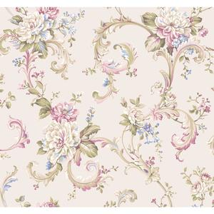 Floral Scroll Wallpaper EL3958