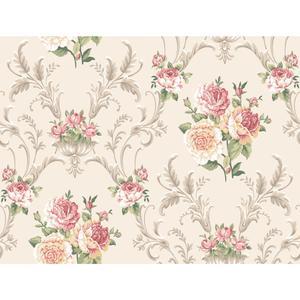Floral Scrolling Wallpaper EL3988