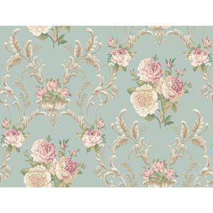 Floral Scrolling Wallpaper EL3991
