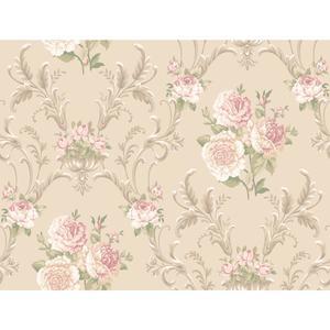 Floral Scrolling Wallpaper EL3992