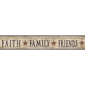 Faith, Family, Friends Border BG1609BD