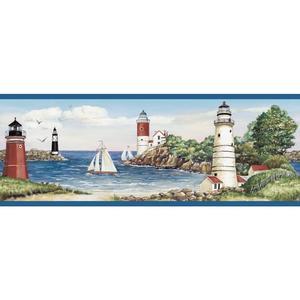 Lighthouse/Sailboat Border BG1663BD