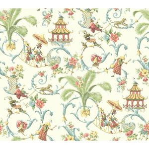 Waverly Classics Mandarin Prose Wallpaper WA7771