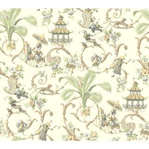 Waverly Classics Mandarin Prose Wallpaper WA7772