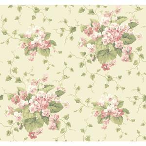 Waverly Cottage Sweet Violets Wallpaper ER8100