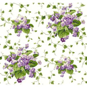 Waverly Cottage Sweet Violets Wallpaper ER8102