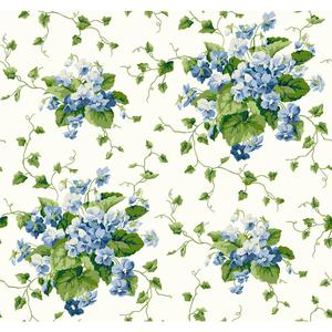 Waverly Cottage Sweet Violets Wallpaper ER8103