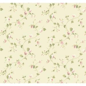 Waverly Cottage Sweet Violets Trail Wallpaper ER8108