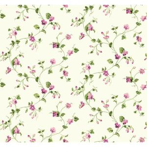 Waverly Cottage Sweet Violets Trail Wallpaper ER8109