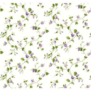 Waverly Cottage Sweet Violets Trail Wallpaper ER8110