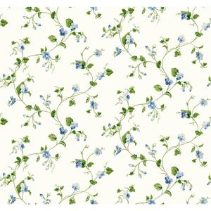 Waverly Cottage Sweet Violets Trail Wallpaper ER8111
