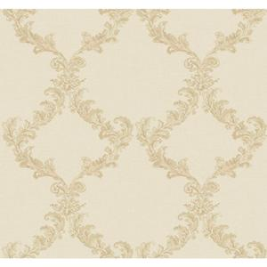 Painterly Damask Frame Wallpaper PL4676