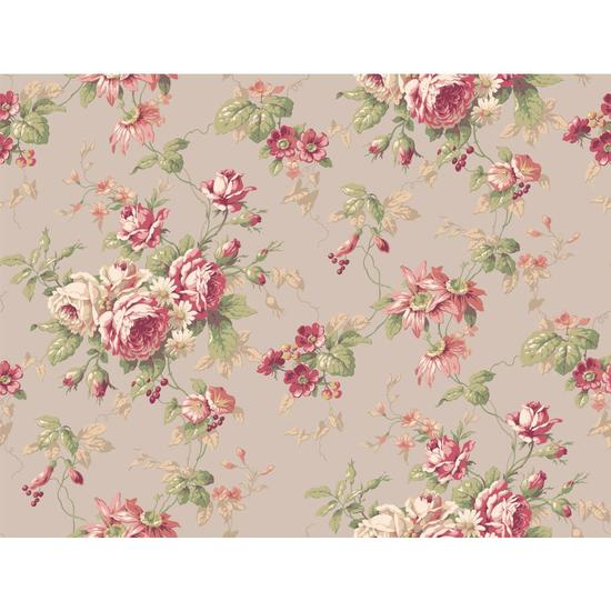 Rose Floral Trail Wallpaper CT0802