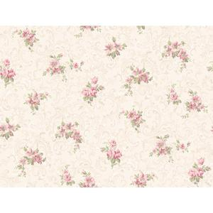 Full Floral Scroll Wallpaper CT0810