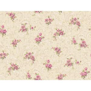 Full Floral Scroll Wallpaper CT0811
