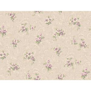 Full Floral Scroll Wallpaper CT0812