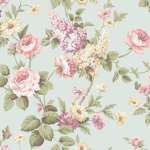 Monogram Rose Wallpaper CT0840