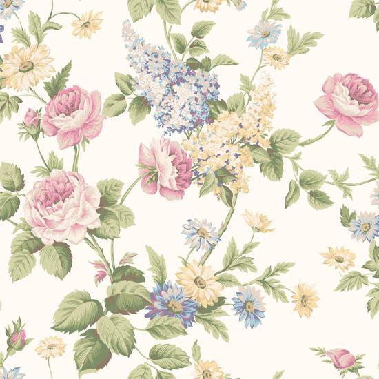 Monogram Rose Wallpaper CT0841