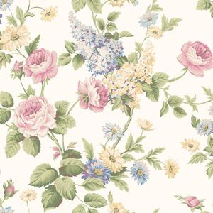 Monogram Rose Wallpaper CT0841