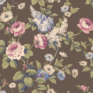 Monogram Rose Wallpaper CT0843