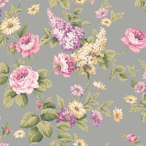 Monogram Rose Wallpaper CT0844