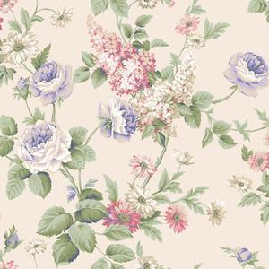 Monogram Rose Wallpaper CT0845