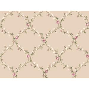 Elegant Rose Trellis Wallpaper CT0848