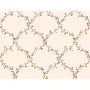 Elegant Rose Trellis Wallpaper CT0849