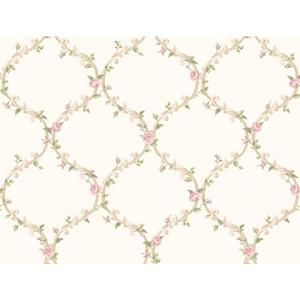 Elegant Rose Trellis Wallpaper CT0850