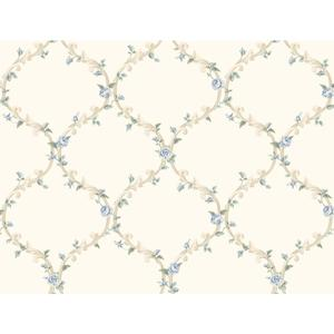 Elegant Rose Trellis Wallpaper CT0851