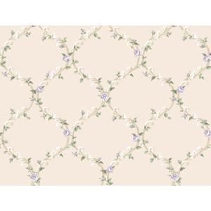 Elegant Rose Trellis Wallpaper CT0852
