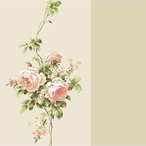 Rose Stripe Wallpaper BA4568